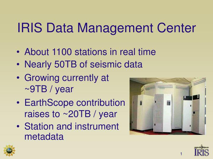 Iris data management center
