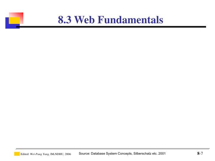 8.3 Web Fundamentals