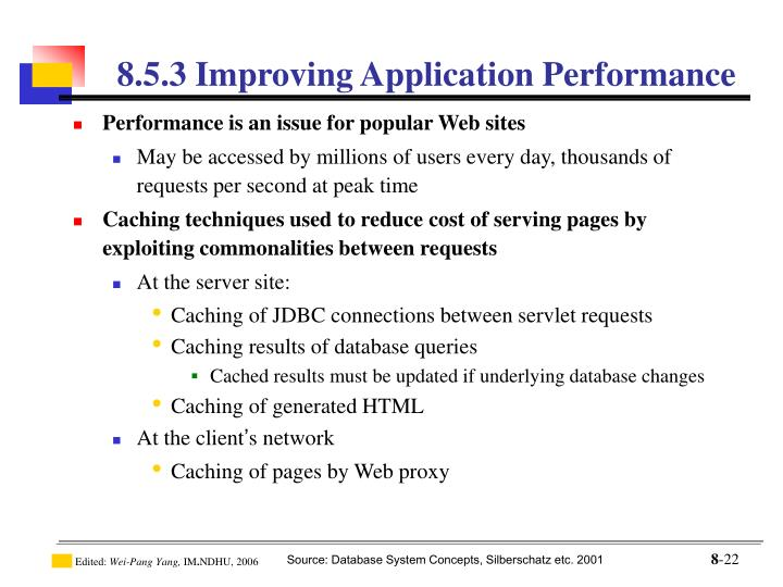 8.5.3 Improving Application Performance