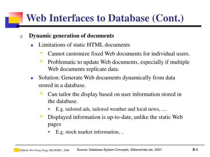 Dynamic generation of documents