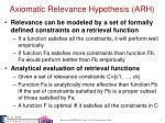 axiomatic relevance hypothesis arh