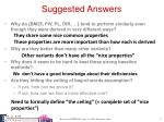 suggested answers