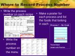 where to record process number