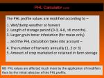 phl calculator contd