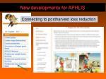 new developments for aphlis