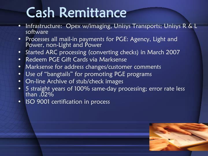 Cash Remittance
