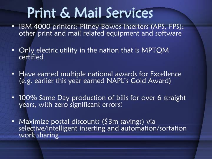 Print & Mail Services