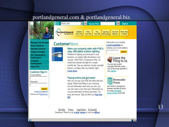 portlandgeneral.com & portlandgeneral.biz.