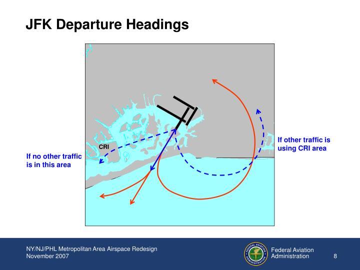 JFK Departure Headings