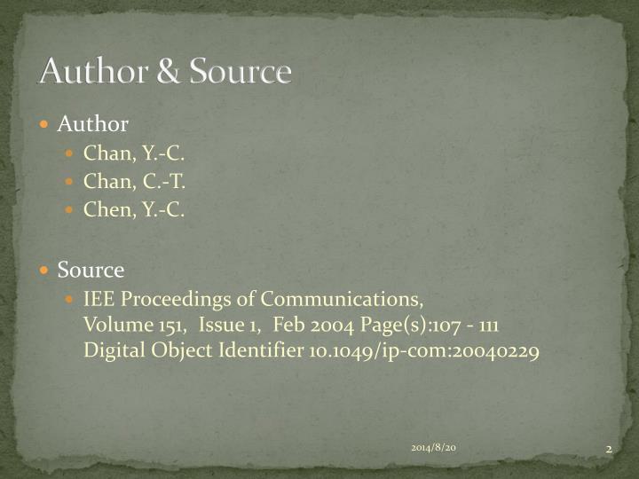 Author source