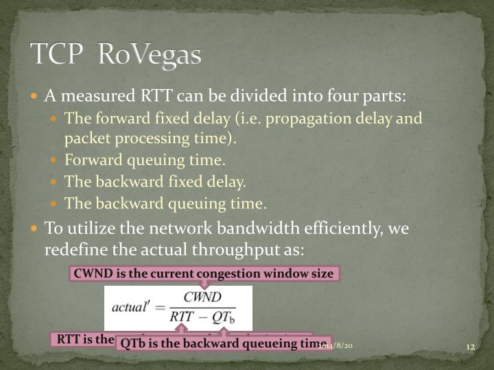 TCP  RoVegas