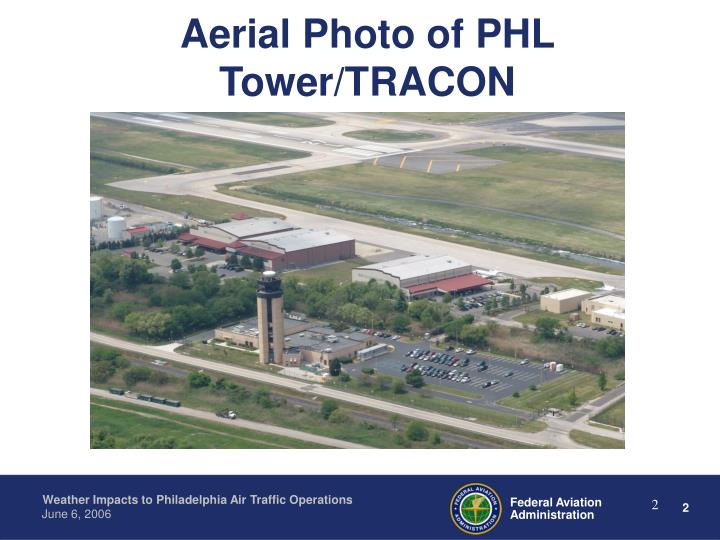Aerial photo of phl tower tracon