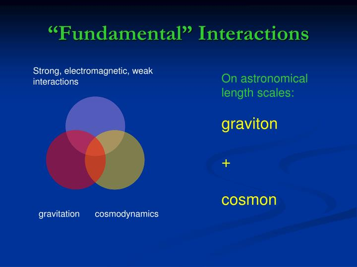 """Fundamental"" Interactions"