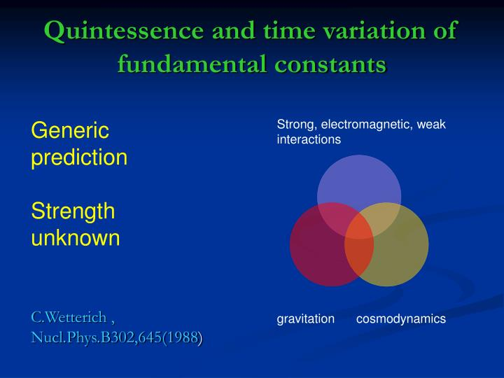 Quintessence and time variation of fundamental constants