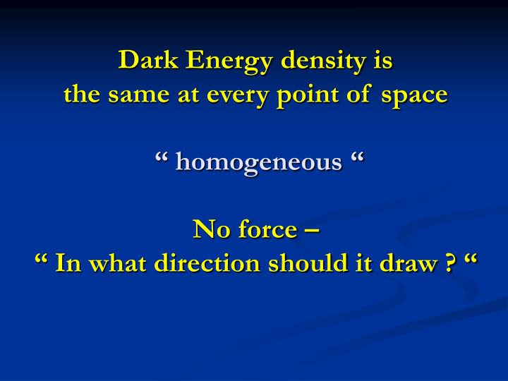 Dark Energy density is