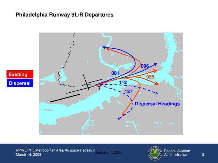 Philadelphia Runway 9L/R Departures