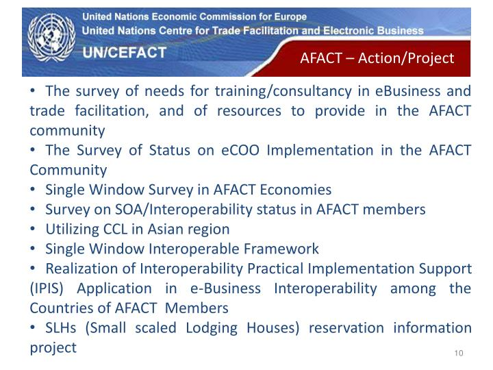 AFACT – Action/Project