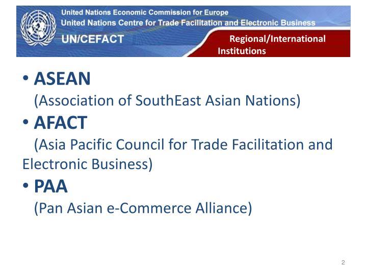 Regional/International Institutions