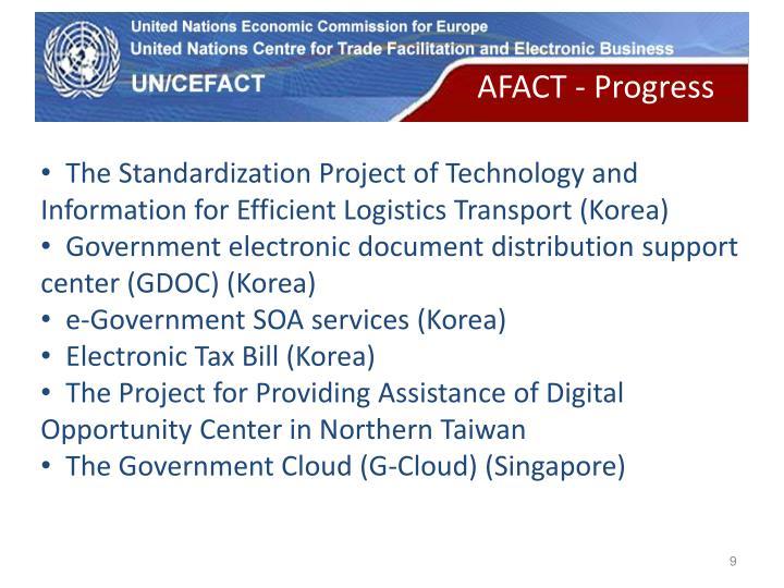 AFACT - Progress
