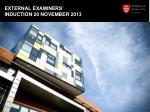 external examiners induction 20 november 2013