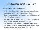 data management successes