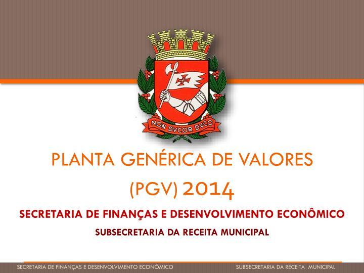 PLANTA GENÉRICA DE VALORES