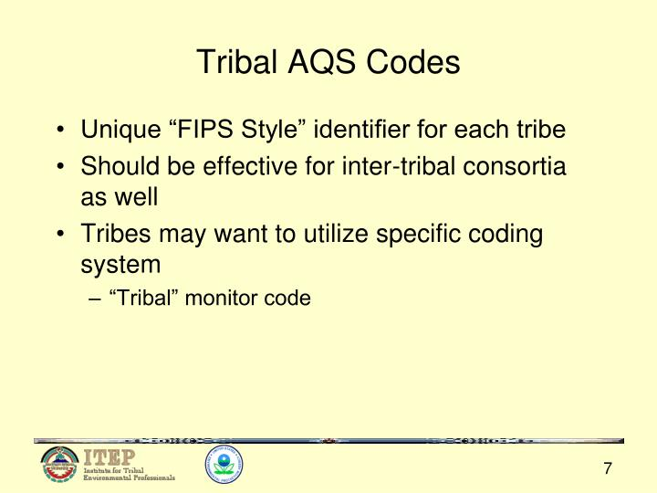 Tribal AQS Codes