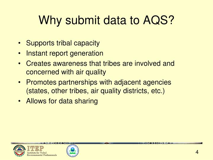Why submit data to AQS?