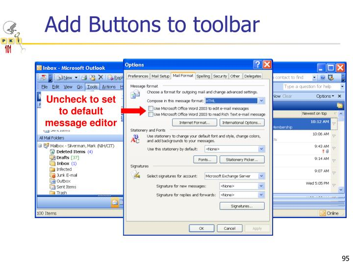 Add Buttons to toolbar