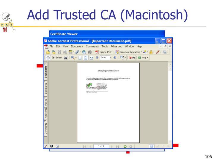 Add Trusted CA (Macintosh)