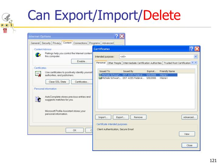 Can Export/Import/