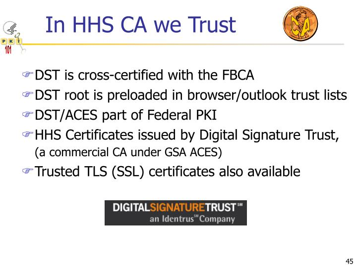 In HHS CA we Trust