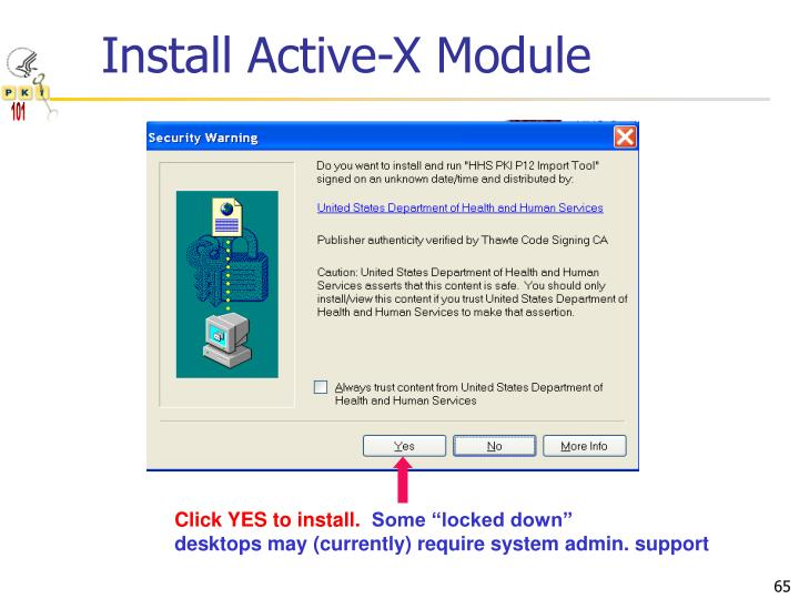 Install Active-X Module