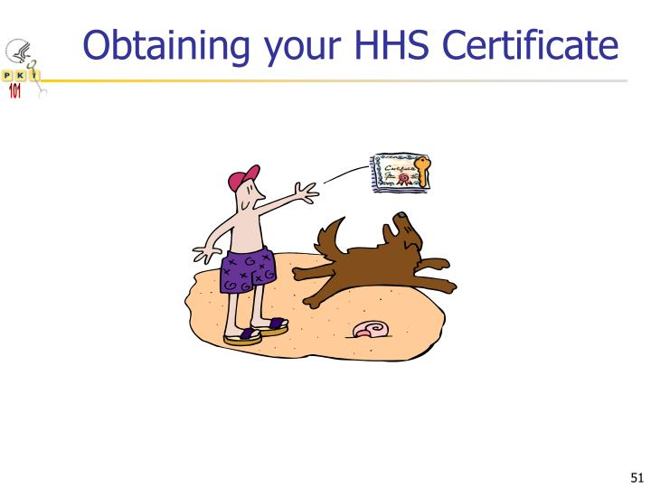 Obtaining your HHS Certificate