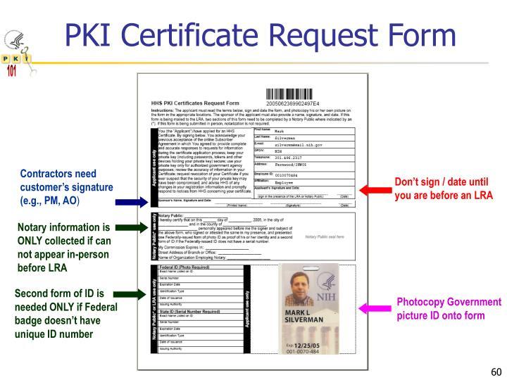 PKI Certificate Request Form