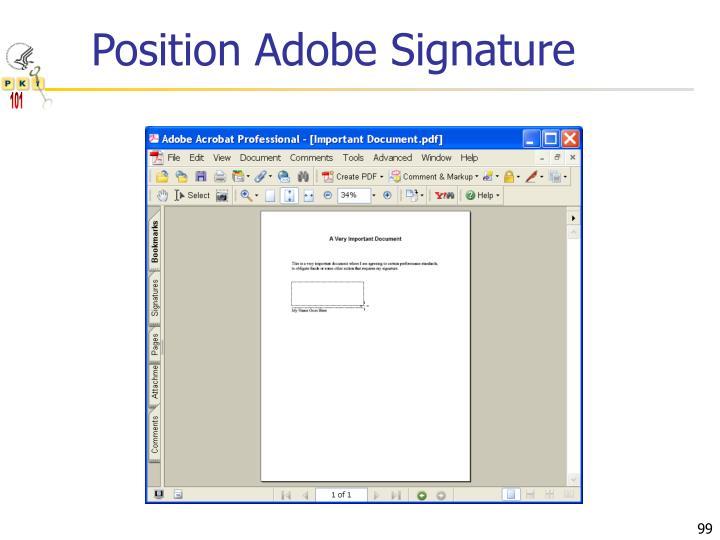 Position Adobe Signature
