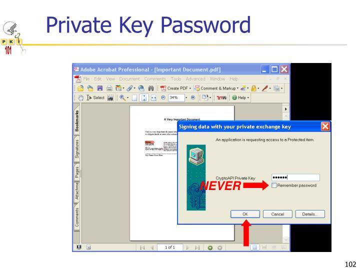 Private Key Password