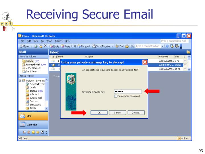 Receiving Secure Email