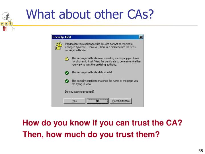 What about other CAs?