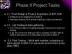 phase ii project tasks