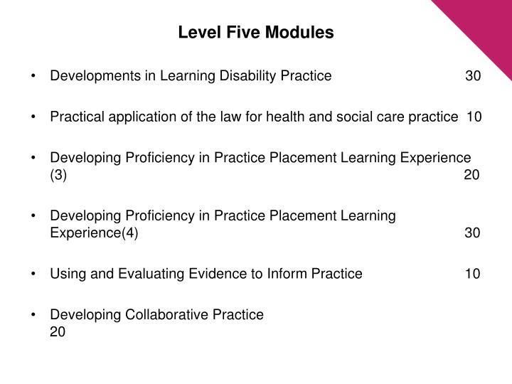 Level Five Modules