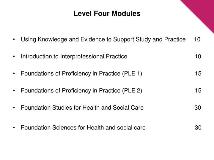 Level Four Modules