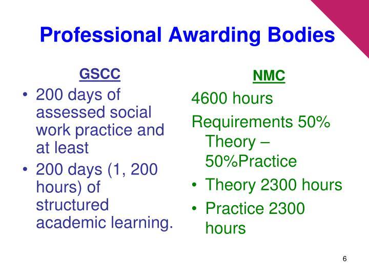 Professional Awarding Bodies