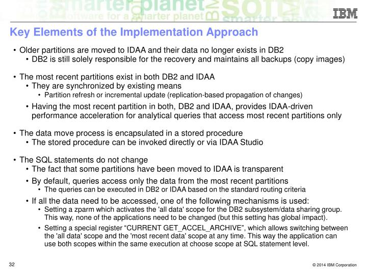Key Elements of the Implementation Approach