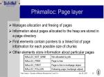 phkmalloc page layer