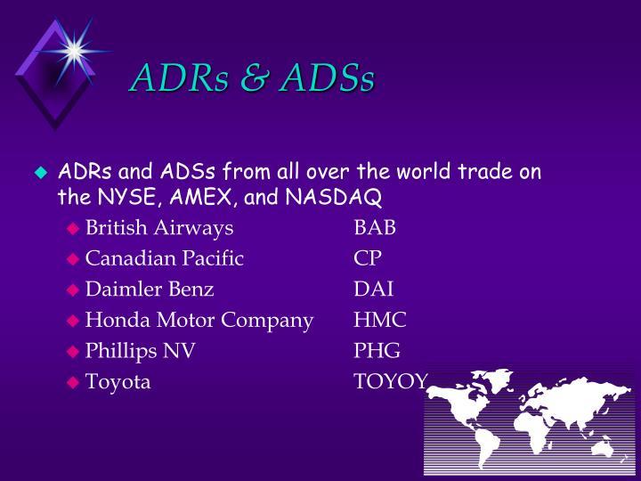 ADRs & ADSs