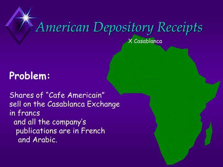 American depository receipts