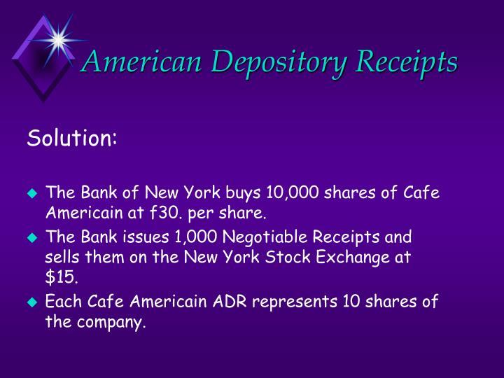 American depository receipts1