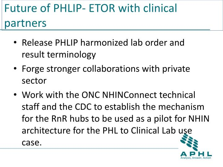 Future of PHLIP- ETOR with clinical partners