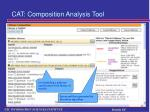 cat composition analysis tool